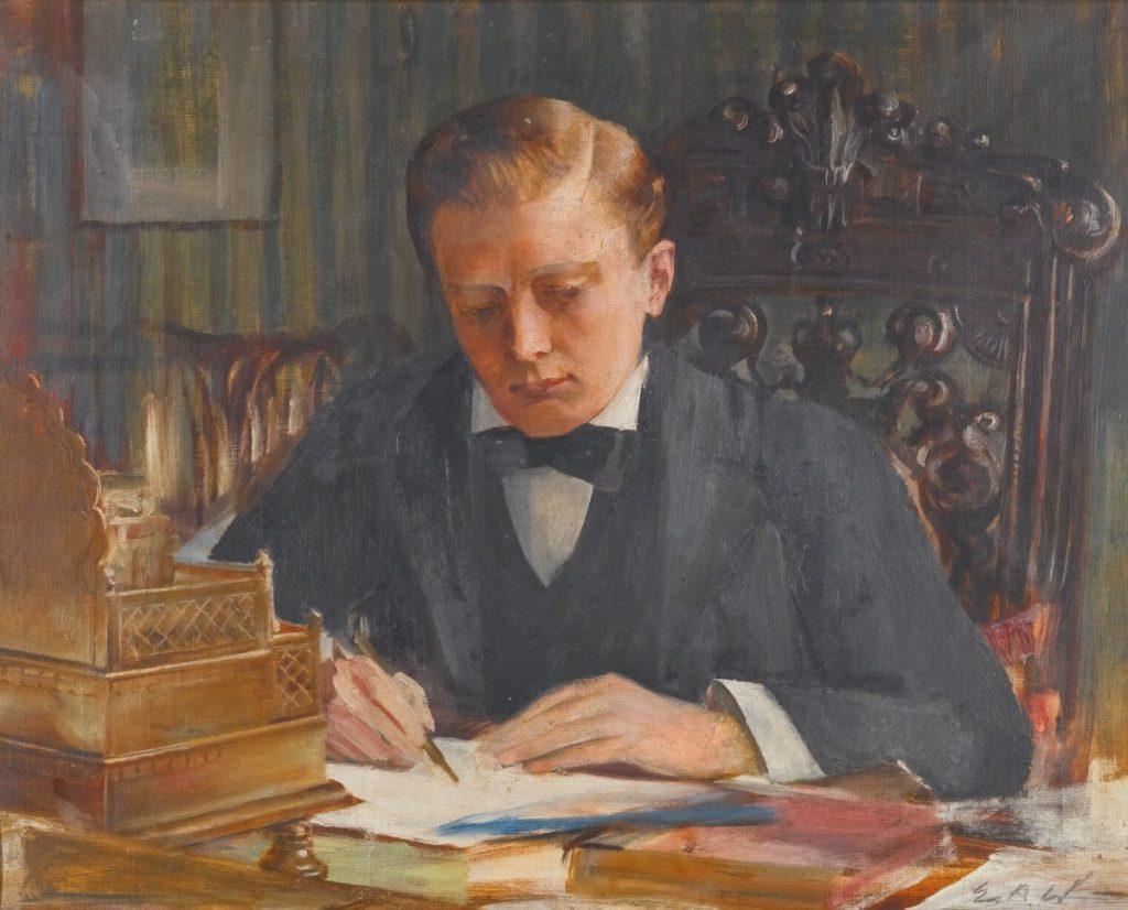 Painting of Winston Churchill by Edwin Arthur Ward