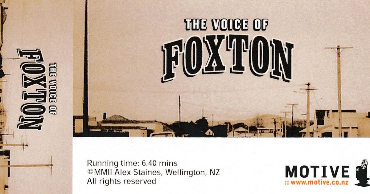 voice of foxton